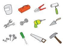 Box tools. Technician boxtools tools Instruments manual Royalty Free Stock Image