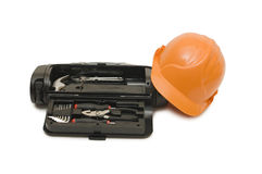 Box for tools a helmet Royalty Free Stock Images