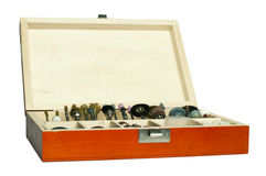Box of tools for sharpening and grinding Royalty Free Stock Image