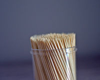 Box of toothpicks Royalty Free Stock Photo