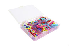 Box of Toy Beads Stock Image
