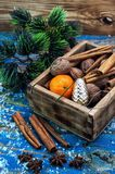 Box of treats for the Christmas table Royalty Free Stock Photo