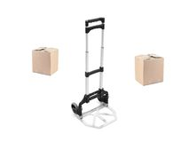 Box Trolley Royalty Free Stock Photo