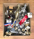 Box of Trophies. Stock Images