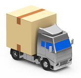Box on a truck Royalty Free Stock Photo