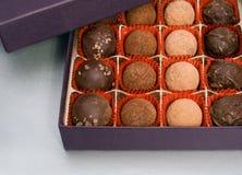 Box of truffles Royalty Free Stock Photo