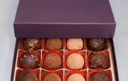 Box of truffles2 Stock Image