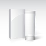 Box and tube of cream. Ready for your design. Royalty Free Stock Photos