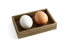 Box with two eggs Royalty Free Stock Photo
