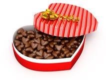 Box for Valentine's present Stock Photos