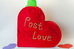 Box for valentines letters Stock Image
