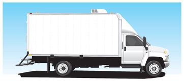 Box Van. An illustration of a utility box van Stock Photos