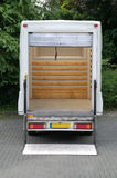 Box van with tail lift Royalty Free Stock Photos