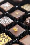 Box of various chocolate pralines Stock Photography