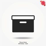 Box vector icon Stock Photography