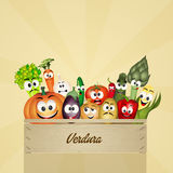 Box of vegetables Royalty Free Stock Photography