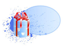 Box with vignette 3. A holiday text blank decorated with present box Stock Image