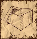 Box  on vintage background Royalty Free Stock Images