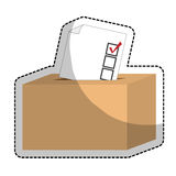box of vote icon Royalty Free Stock Images