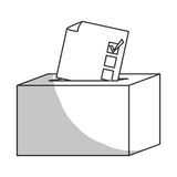 box of vote icon Royalty Free Stock Photography