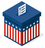 Box for a vote. presidential elections in the United States Stock Photography