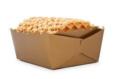 Box Of Waffles Royalty Free Stock Photography