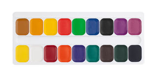 Box of water colors Royalty Free Stock Photography