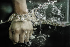 Box water. Its showing power in your hand royalty free stock photo