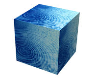 Box with water and skies Royalty Free Stock Photo