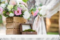 Box  for wedding rings Stock Photos