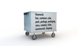 Box with wheels and keywords Stock Image