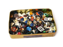 Box where buttons are stored Stock Images