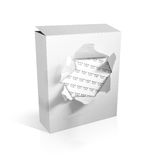 Box on white background. 3D illustration of a box on a white background Stock Image