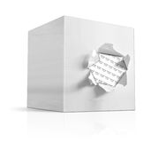 Box on white background. 3D illustration of a box on a white background Stock Photography