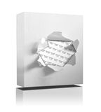 Box on white background. 3D illustration of a box on a white background Royalty Free Stock Photography