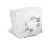 Box on white background. 3D illustration of a box on a white background Royalty Free Stock Image