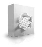 Box on white background. 3D illustration of a box on a white background Stock Images