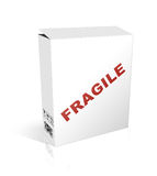 Box on white background. 3D illustration of a box on a white background Stock Photos
