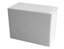Box white Royalty Free Stock Photography