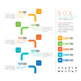 Box White Space Infographic Stock Image
