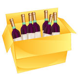 Box with wine Royalty Free Stock Images