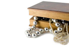 Box witch beads Royalty Free Stock Photos