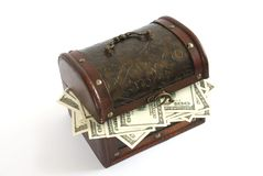 Box With Money Stock Images