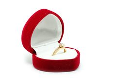 Box With Ring Royalty Free Stock Photos