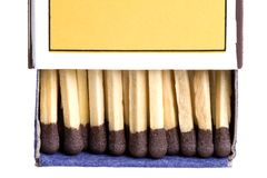 Box of Wood Matches Stock Photography