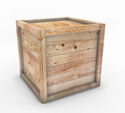 Box of wood. On a white background Stock Photo
