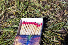A box of wooden matches Royalty Free Stock Image