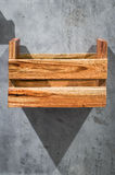 Box wooden shelf Stock Image