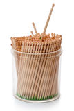 Box with wooden toothpicks Royalty Free Stock Photos