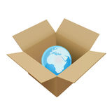 Box in world Royalty Free Stock Images